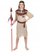 Beige Indianen kostuum voor meisjes