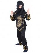 Gouden ninjakostuum voor jongens