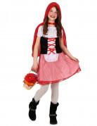 Roodkapjeskostuum met korset voor meisjes