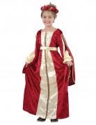 Rood met geel middeleeuwse kostuum voor meisjes