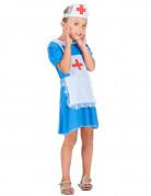 Blauw verpleegster kostuum voor meisjes