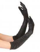 Half lange zwarte handschoenen