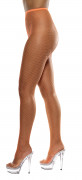 Fluo oranje visnet panty's voor vrouwen