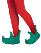 Groene kerstelf schoenen voor volwassenen
