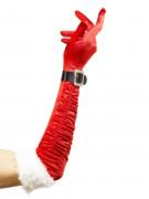 Lange kerstvrouwhandschoenen voor volwassenen