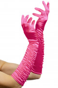 Lange fuchsia handschoenen voor vrouwen