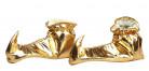 Goudkleurige pantoffels voor dames
