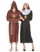 Monnik en non koppel kostuums