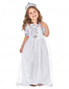 Zilverkleurige lovertjes prinsessen kostuum voor meisjes