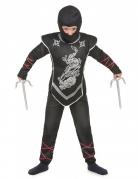 Zwart ninja kostuum voor jongens