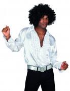 Wit satijnachtig discopak voor mannen