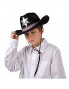 Zwarte sheriffhoed voor jongens