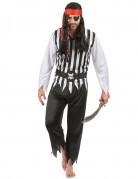 Gestreepte piraten kostuum voor heren