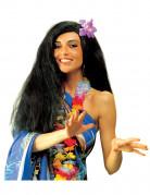Zwarte hawaïpruik voor vrouwen