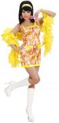 Oranje seventies-jurk voor vrouwen