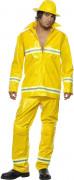 Geel brandweerpak voor mannen