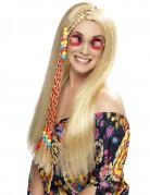 Blonde hippiepruik voor vrouwen.