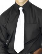 Witte gangster stropdas voor volwassenen