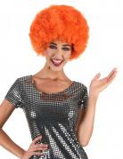 Oranje afro / clown pruik voor volwassenen