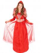 Rode middeleeuwse koningin kostuum voor meisjes