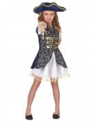 Blauw piraten kostuum voor meisjes