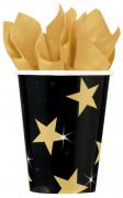 Zwart met gouden sterren bekers