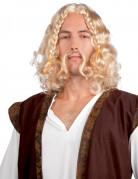 Heren Viking pruik met snor