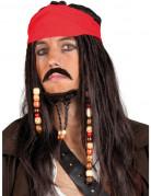 Piratenpruik met snor en sik