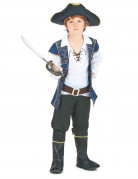 Blauw en goudkleurig barok piraten kostuum voor jongens