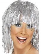 Metallic zilveren pruik voor volwassenen
