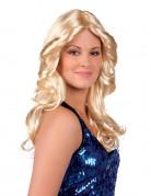 Blonde golvende disco pruik voor dames