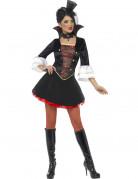 Zwart met rood vampieren kostuum voor dames