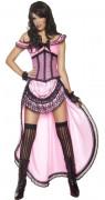 Sexy saloon danseres kostuum voor vrouwen