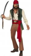 Driekleurig piraten pak voor heren