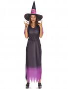 Paarse heks outfit met kleurverloop voor dames