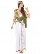 Driekleurige Griekse godin outfit voor vrouwen
