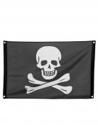Zwart piraten vlag met doodskop