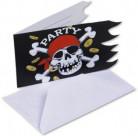 Set piraten uitnodigingen