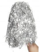 Zilverkleurige metallic pompons