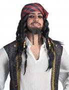 Zwarte piraat pruik voor volwassenen
