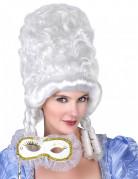 Witte barok pruik voor vrouwen