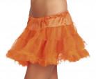 Oranje tule petticoat voor dames