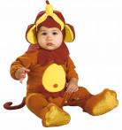 Bruine apen outfit voor baby's