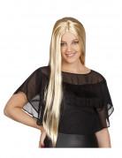 Blonde glanzende lange pruik voor dames