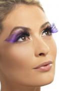 Lange paarse valse wimpers (voor vrouwen)