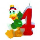 Kaars cijfer 4 Mickey Clubhouse™