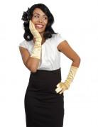 Lange goudkleurige handschoenen voor vrouwen