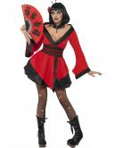 Halloweenvermomming als gothic geisha voor vrouwen