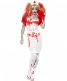 Kostuum van een bloeddorstige verpleegster voor volwassenen Halloween