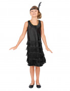 Zwart Charleston kostuum voor meisjes